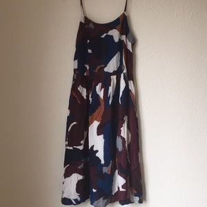 Ann Taylor Loft camo gorgeous rayon midi dress